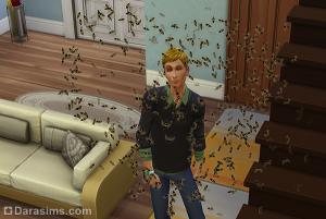 Сердечко из пчел в Симс 4 Времена года