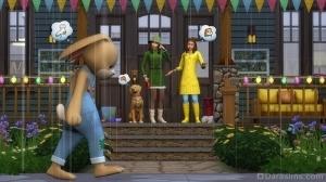 Дождь, кролик, Симс 4