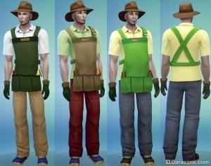 мужская униформа в карьере садовода 3-4 уровень