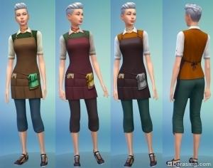 женская униформа в карьере садовода 3-4 уровень