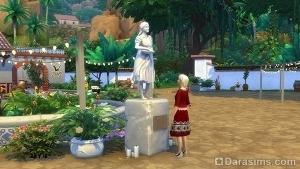 Статуя Мадре Косеки в Симс 4 Приключения в джунглях