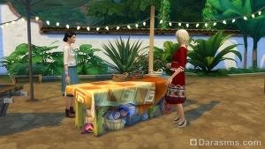 посещение рынка с Симс 4 Приключения в джунглях