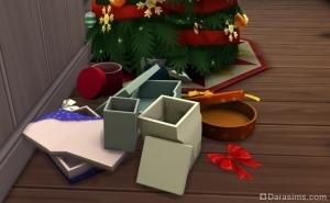 упаковочный мусор после разбора подарков