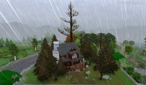дождь в Симс 4 Времена года