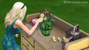 стол флориста в The Sims 4 Времена года