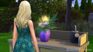 букет с запахом тюльпана на столе флориста