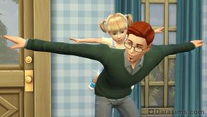 Игры с малышом в Симс 4