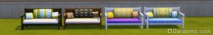 обитый диванчик из красного дерева