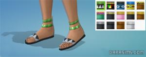 женские сандалии в обновлении карибы