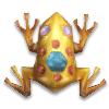 Золотая лягушка с драгоценными камнями