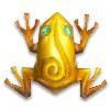 Золотая лягушка с амазонитом и мишенью