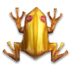 Золотая лягушка с кварцем в полоску