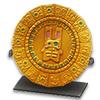 Золотая тарелка-календарь Цельтикли с изумрудом