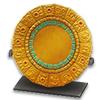Золотая омисканская тарелка-календарь с бирюзой