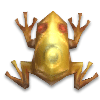 Золотая лягушка с рубином в кружочек