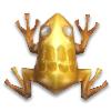 Золотая лягушка с алмазом и черепом