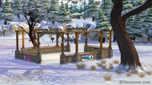 Зимний каток для катания на коньках в Симс 4