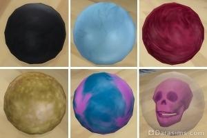 Виды шаров для боулинга в каталоге Симс 4 Вечер боулинга