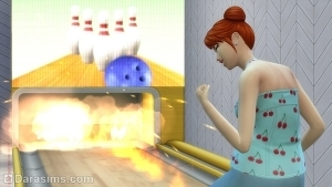 Дорожка для боулинга в огне