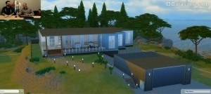 Дом с гаражом в Симс 4