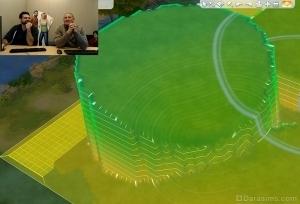 Визуальный режим изменения уровня земли в Симс 4
