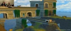 Замок с мостом через ров в Симс 4