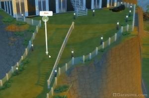 Строительство гибкой ограды на склоне в Симс 4