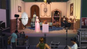 на съемочной площадке в The Sims 4 Путь к славе
