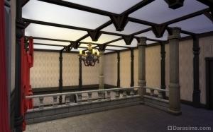 Балочный потолок из перекладин в Симс 4
