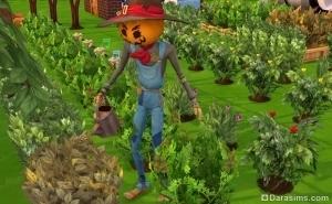 пугало помогает в огороде в the sims 4 времена года