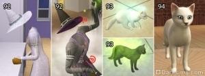 Волшебный помощник, кошки-талисманы, шаблон волшебной кошки