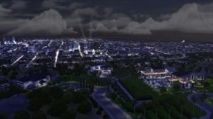 Вид на городок Дель Соль Вэлли ночью
