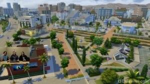 Вид на новый город в Симс 4 Путь к славе