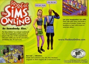 Задняя крышка диска The Sims Online