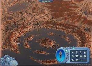 Карта города (управление камерой – слева, справа рядом с иконкой сима – Гизмо)