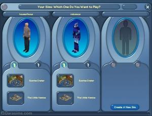 Экран выбора сима