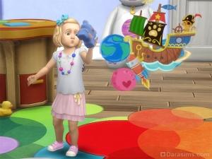 Тоддлер с игрушкой в Симс 4