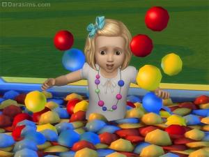 Тоддлер в бассейне с шариками в Симс 4