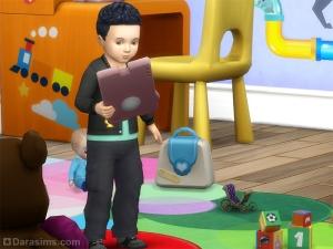 Малыш с планшетом в Симс 4