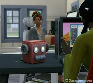декоративный настольный робот в The Sims 4