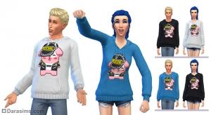 толстовка из коллекции Moschino X The Sims