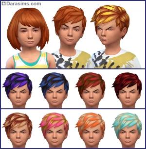 новые прически для детей в The Sims 4 На заднем дворе