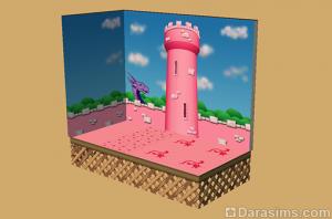 розовая тема в настенных покрытиях