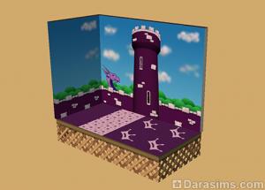фиолетовая тема в настенных покрытиях