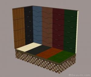 Настенные панели и плитка из каталога Симс 2 Гламурная жизнь