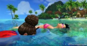 снорклинг в «Симс 4 Жизнь на острове»