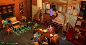 полинезийский интерьер в «The Sims 4 Жизнь на острове»