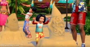скульптуры из песка в «Симс 4 Жизнь на острове»