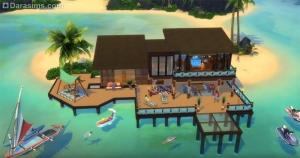 дом на сваях в «Симс 4 Жизнь на острове»