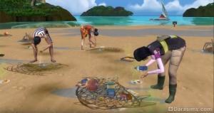 уборка пляжа в «Симс 4 Жизнь на острове»